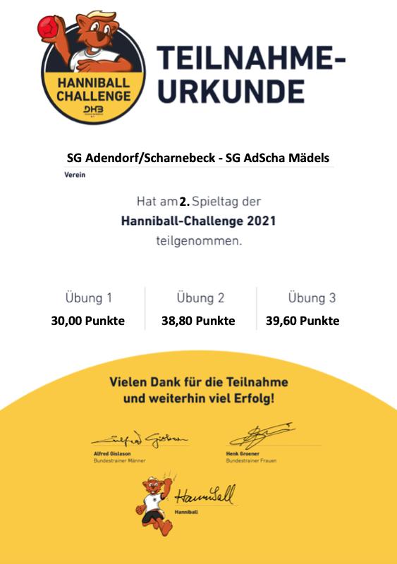 Hanniball Urkunde Runde 2